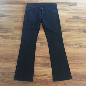 7 for all mankind Black Kimmie Bootcut Jeans